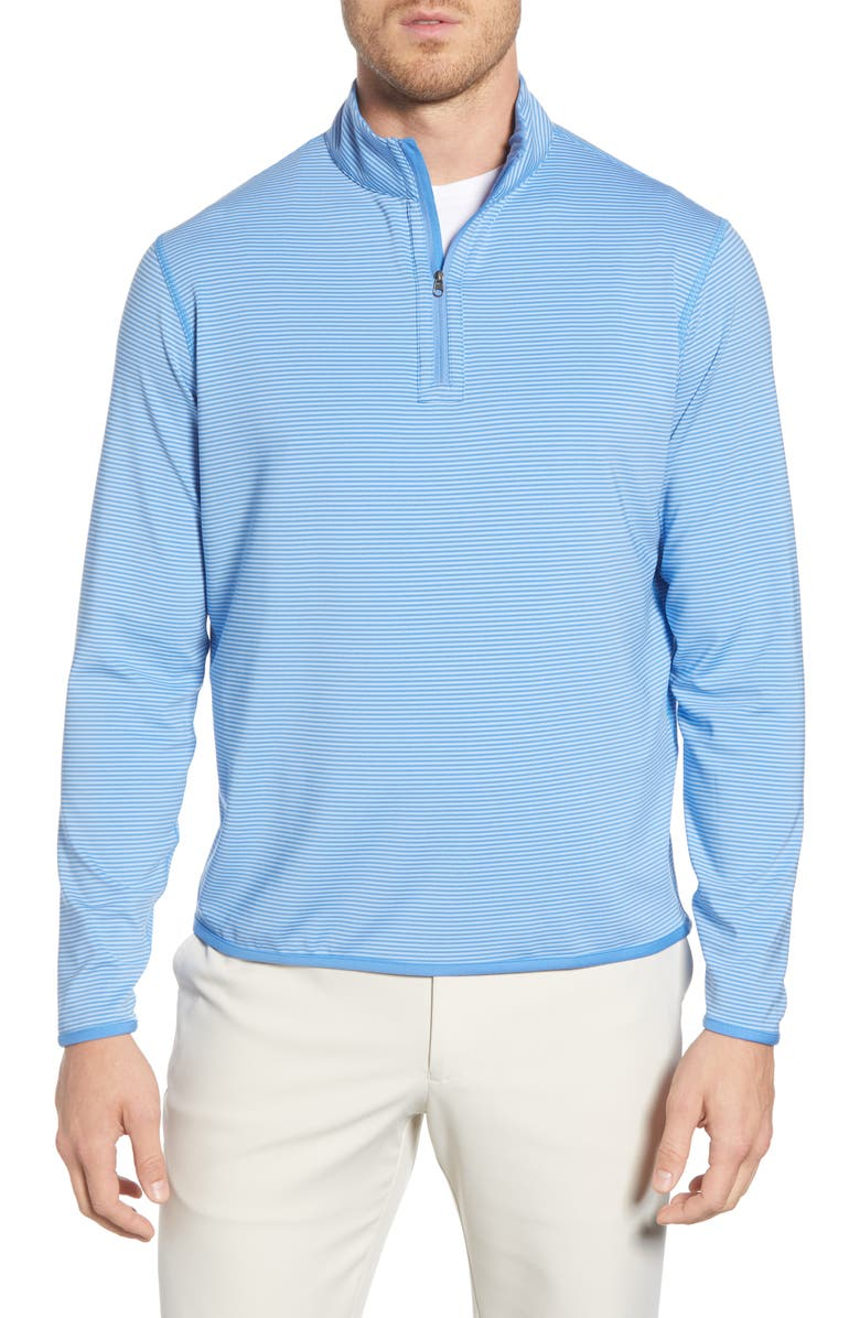 PETER MILLAR Hobart Stripe Quarter Zip Pullover, Main, color, LIBERTY BL