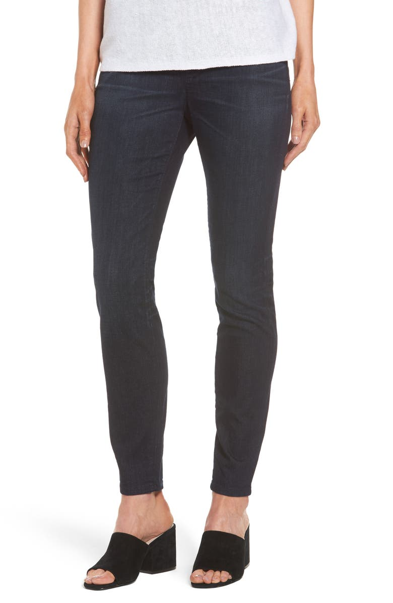 EILEEN FISHER Stretch Denim Leggings, Main, color, UTILITY BLUE