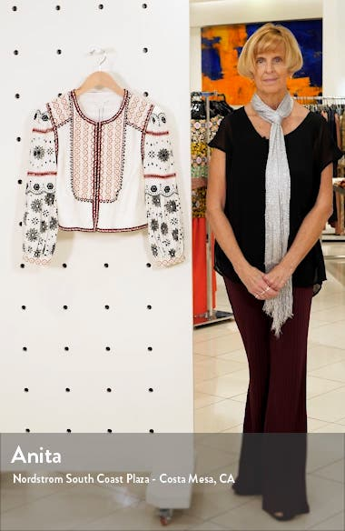 Shilin Embellished Linen Jacket, sales video thumbnail