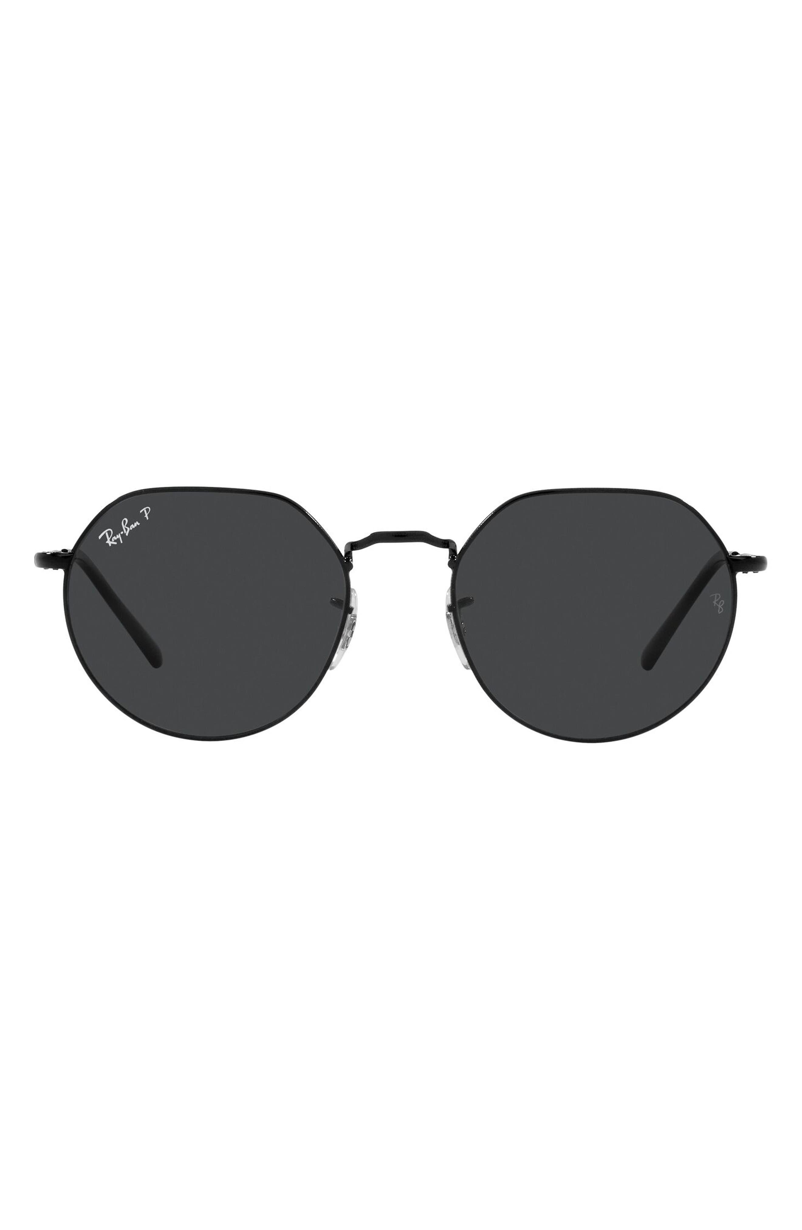 Women's Ray-Ban Jack 53mm Polarized Sunglasses - Black / Polarized Black