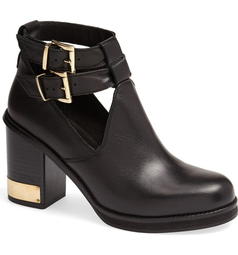 TOPSHOP 'All Yours' Ankle Boot, Main, color, 001
