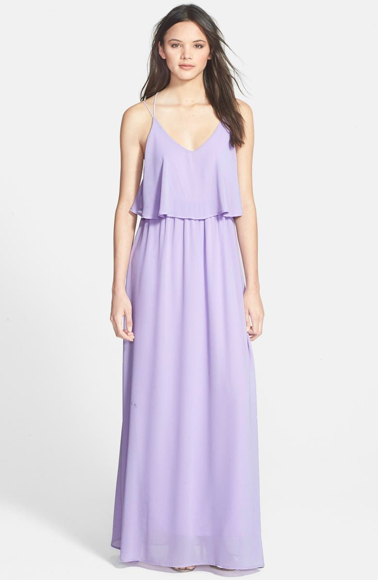 EVERLY Popover Maxi Dress, Main, color, 500