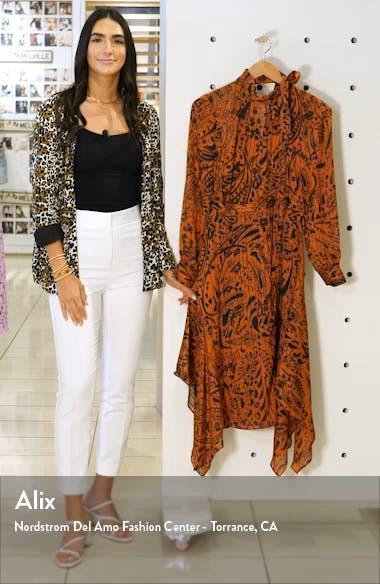 Paisley Print Handkerchief Hem Dress, sales video thumbnail