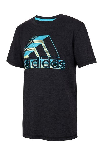 Image of adidas Heathered Badge of Sport Graphic T-Shirt