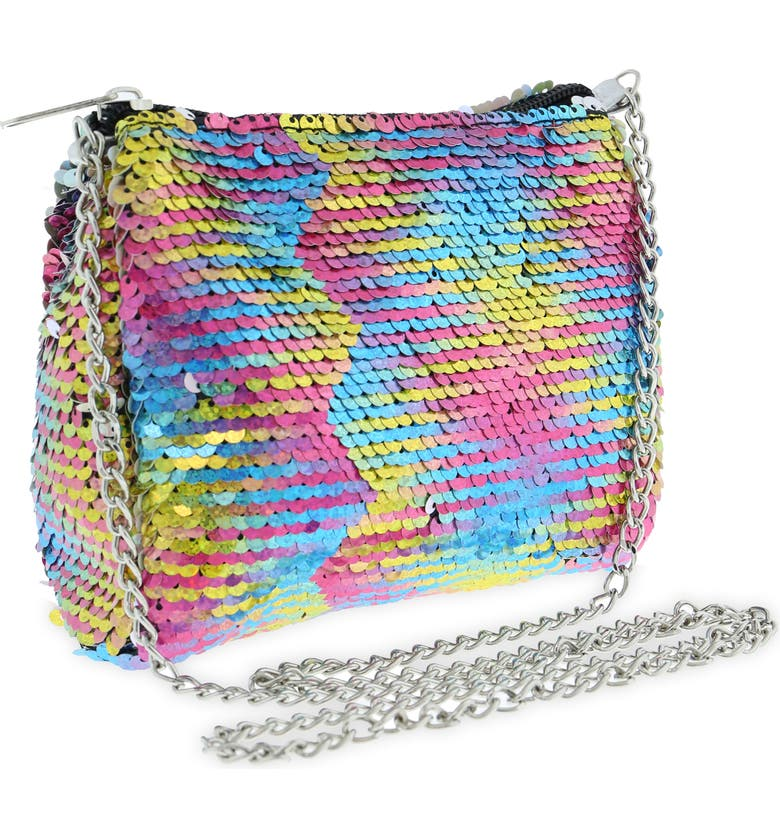CAPELLI NEW YORK Reversible Sequin Crossbody Bag, Main, color, MULTI CO