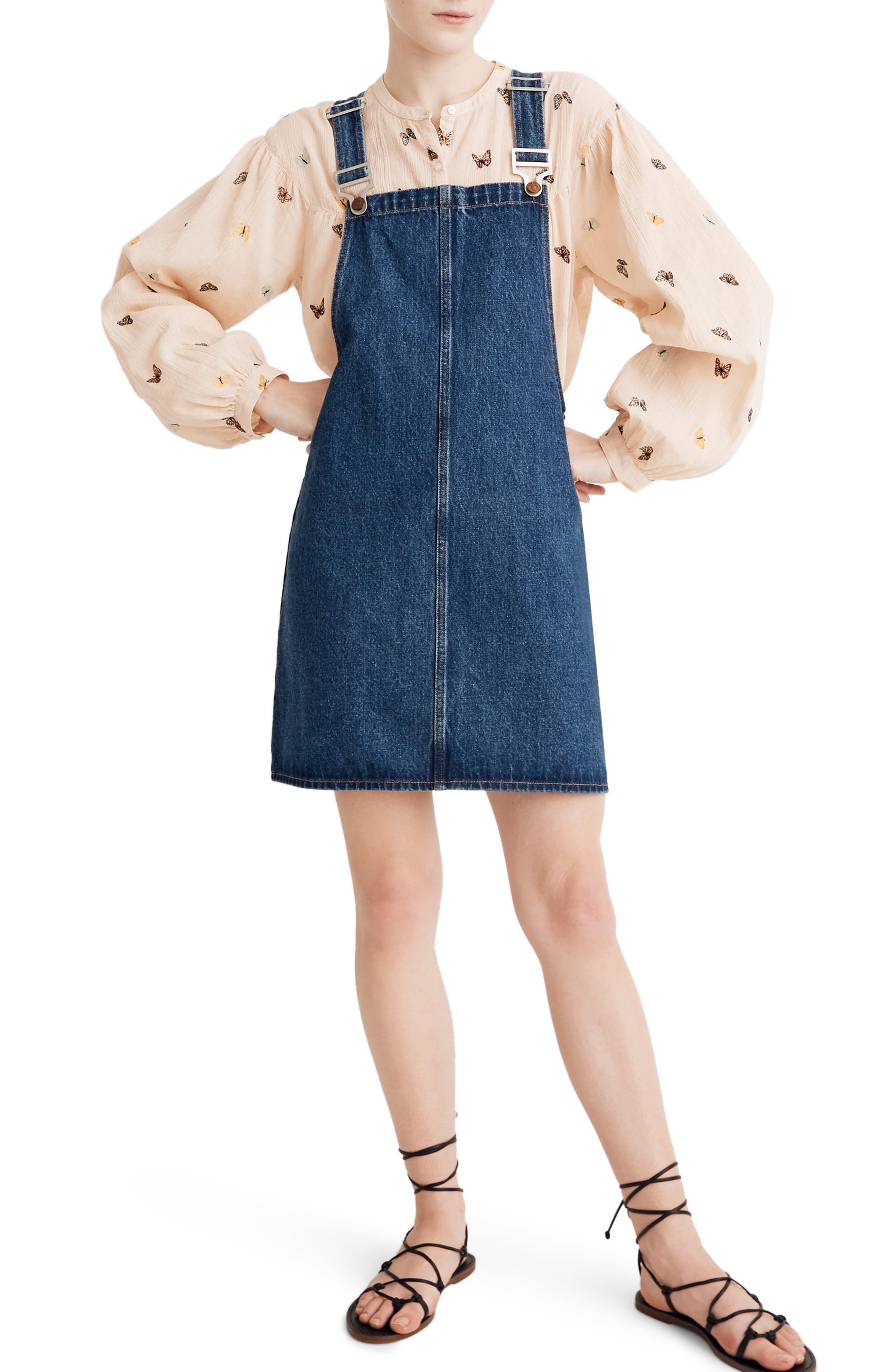 Madewell Denim Overall Minidress, Blue