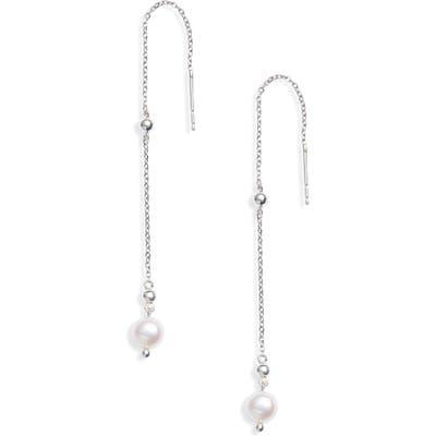 Anzie Dew Drop Pearl Threader Earrings