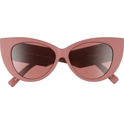 Le Specs Feline Fine 5m Cat Eye Sunglasses - Matte Rust/ Rose