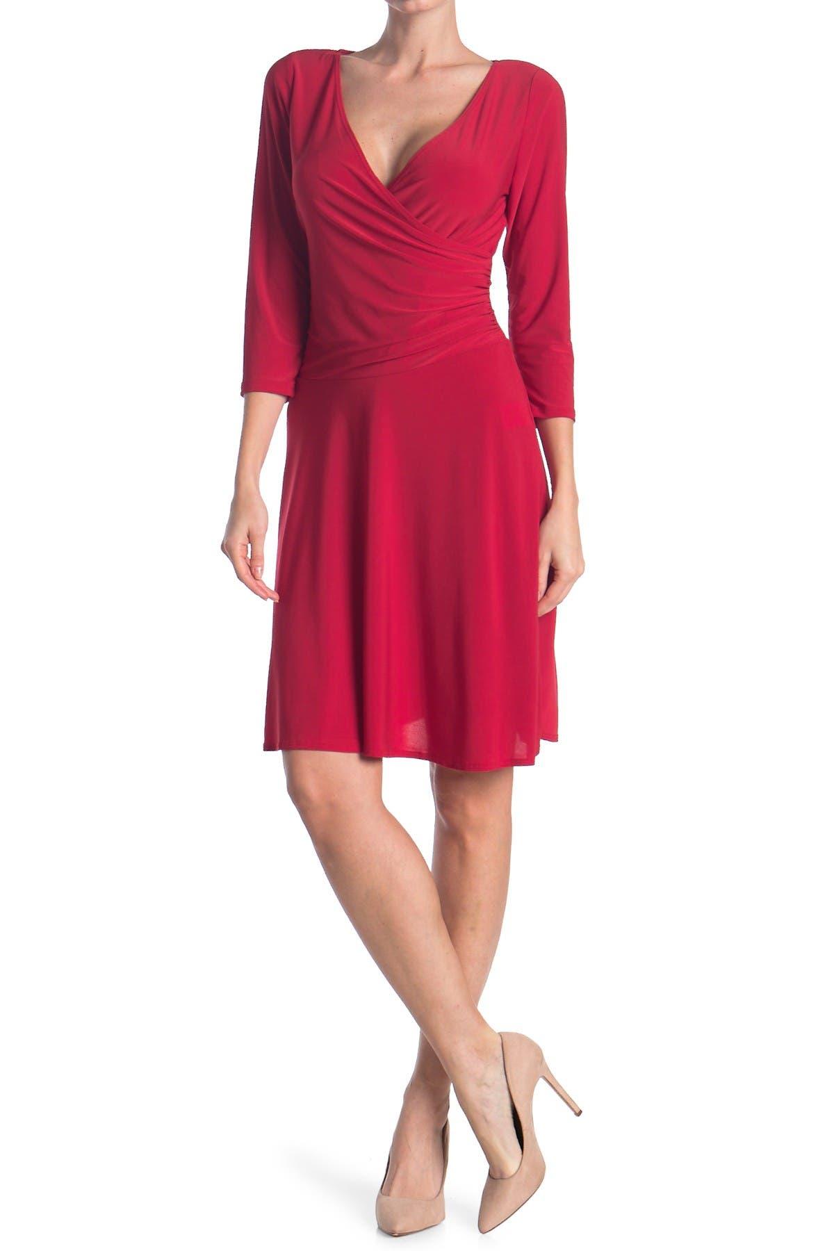 Image of TASH + SOPHIE Long Sleeve Wrap Dress