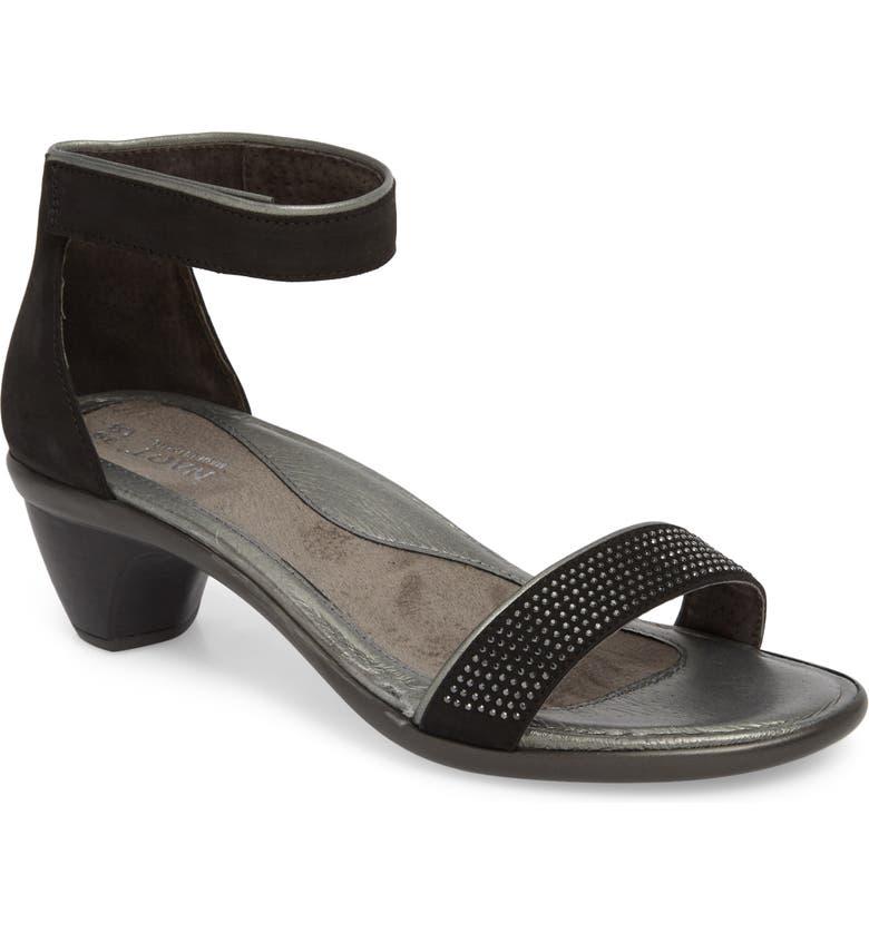 NAOT Progress Sandal, Main, color, BLACK VELVET NUBUCK