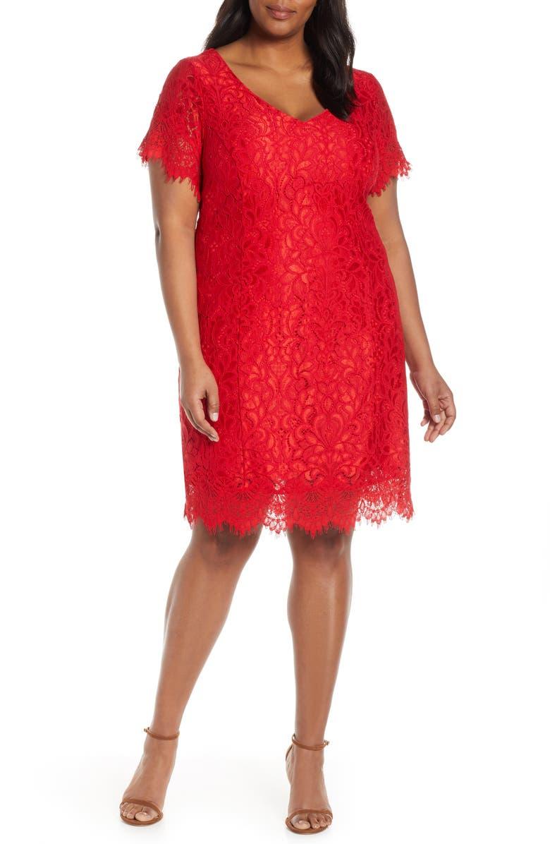 ESTELLE Back To You Lace Dress, Main, color, ORANGE