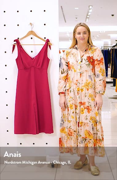 Tie Shoulder Crepe Dress, sales video thumbnail