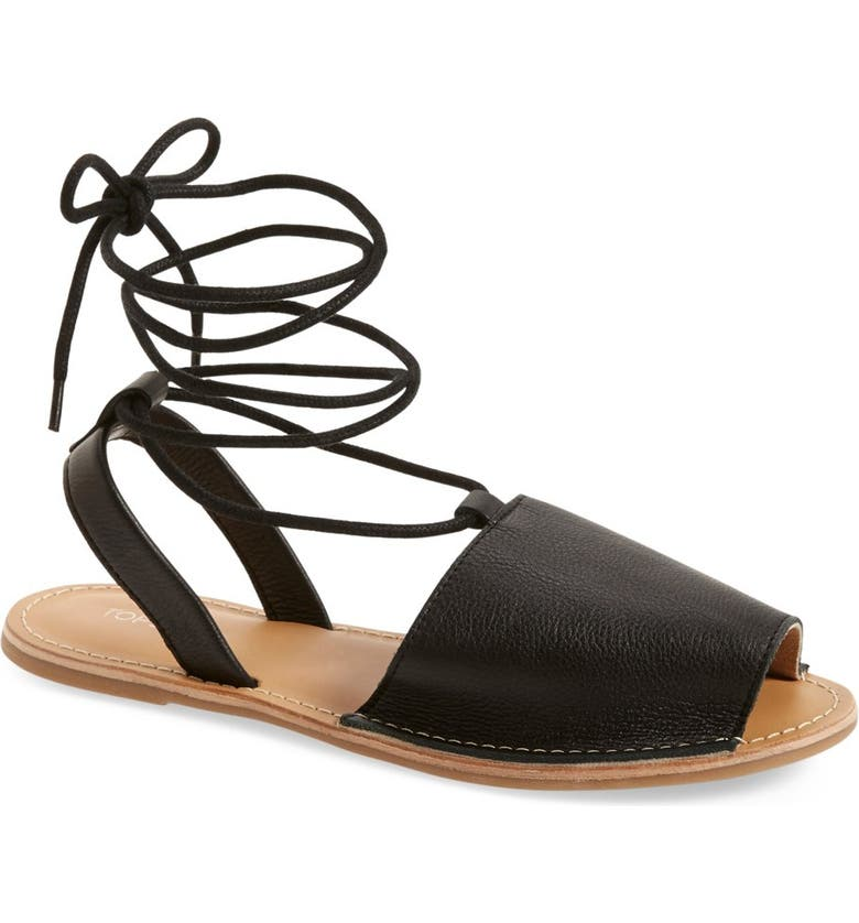 TOPSHOP 'Holly' Lace-Up Sandal, Main, color, 001
