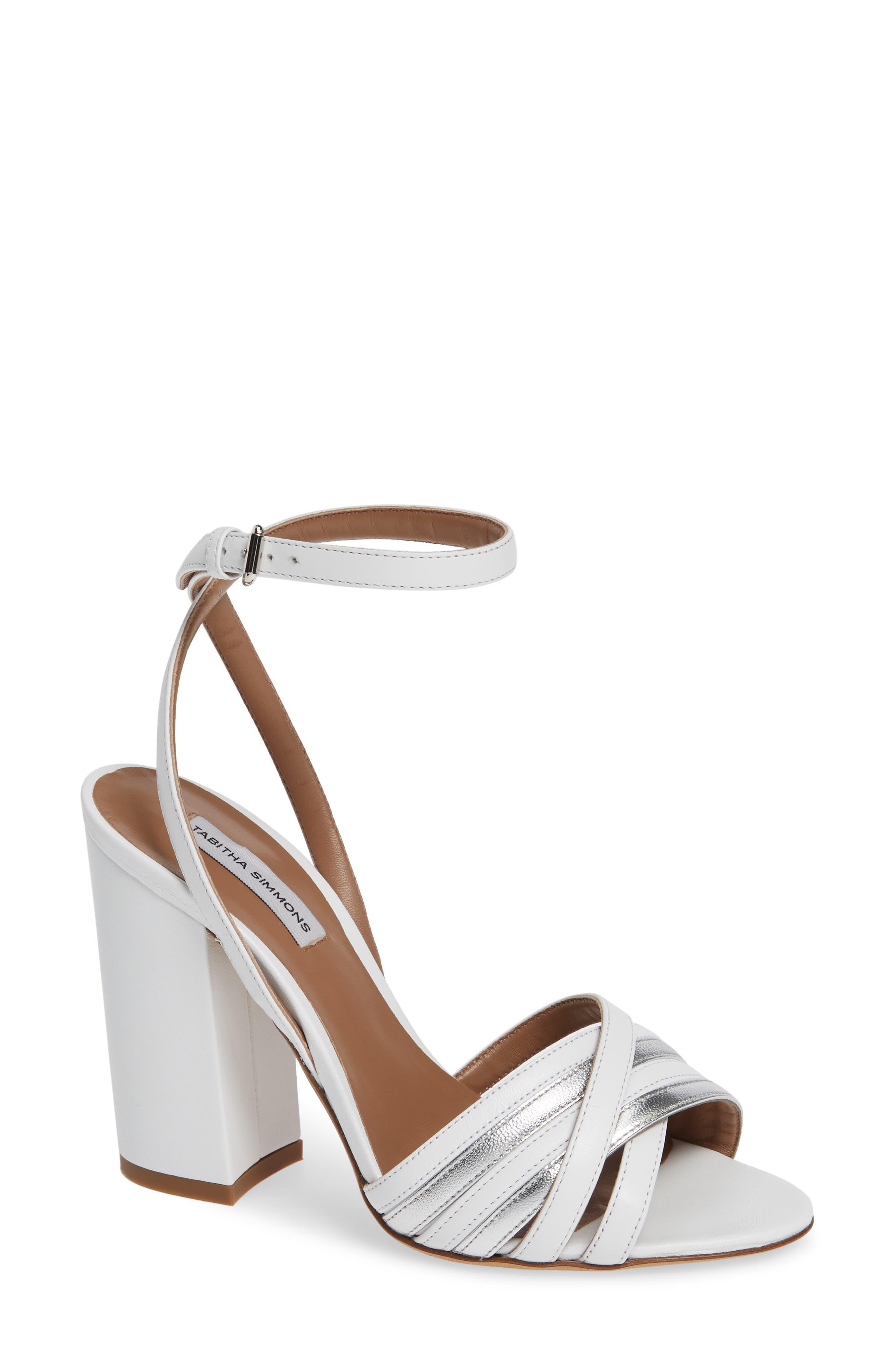 Tabitha Simmons Toni Block Heel Sandal, White