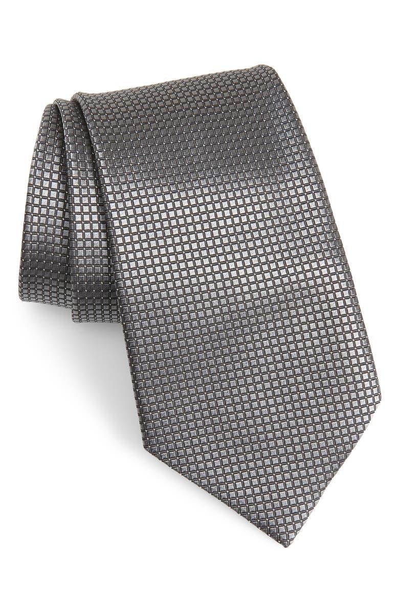 ERMENEGILDO ZEGNA Check Silk Tie, Main, color, 039