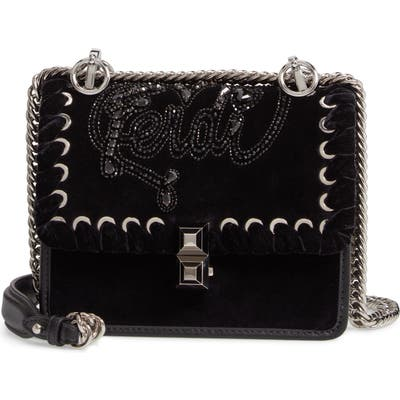 Fendi Small Kan I Velvet Shoulder Bag - Black