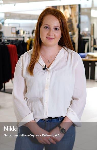 Metallic Shimmer Faux Wrap Gown, sales video thumbnail