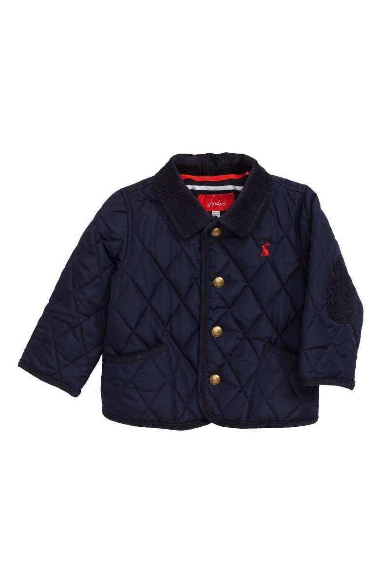 JOULES Milford Quilted Barn Jacket, Main, color, NAVY