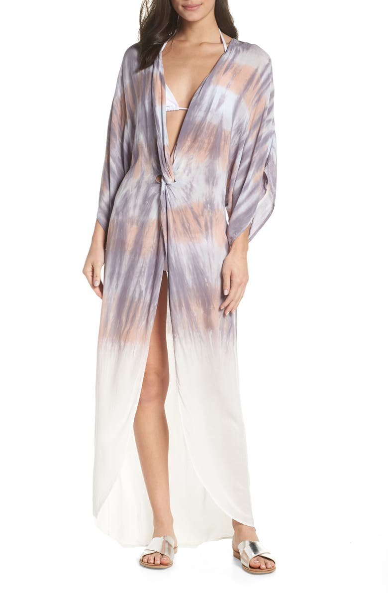 SURF GYPSY Tie Dye Twist Cover-Up Dress, Main, color, 250
