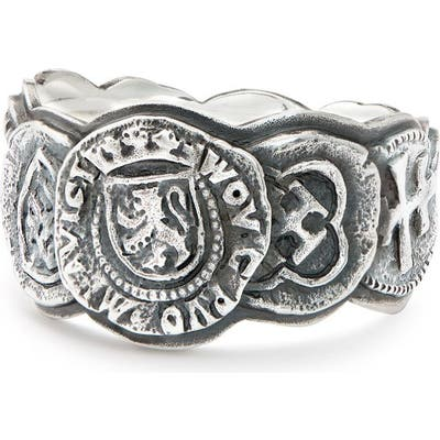 David Yurman Shipwreck Coin Band Ring, 12mm