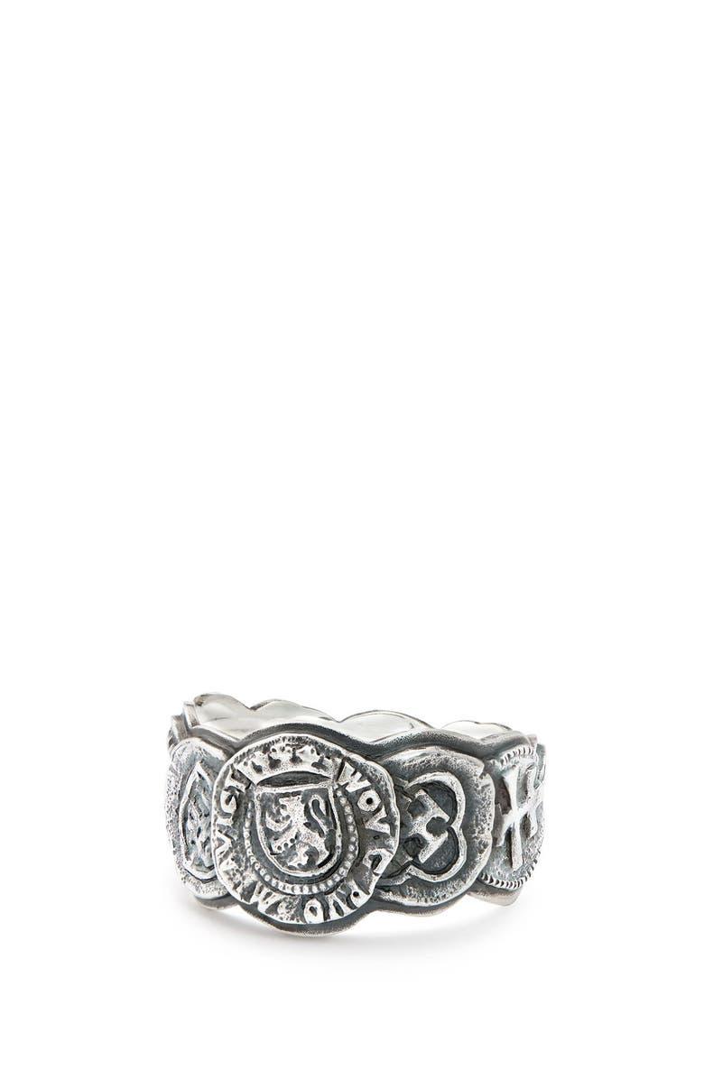 DAVID YURMAN Shipwreck Coin Band Ring, 12mm, Main, color, SILVER