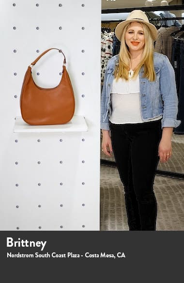 Amal Leather Hobo Bag, sales video thumbnail