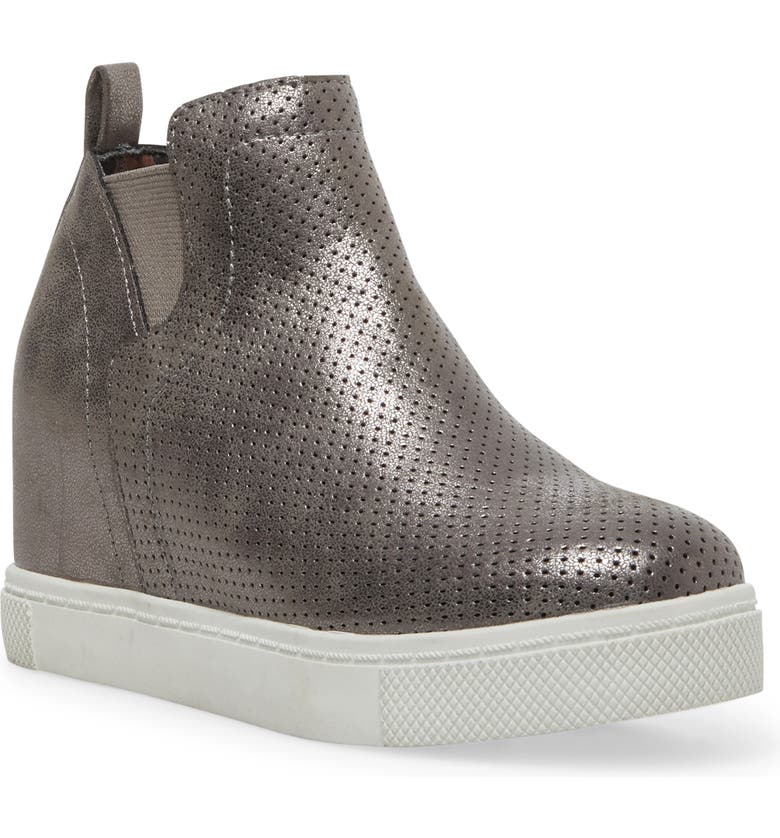 STEVE MADDEN JWrangle Wedge Sneaker Bootie, Main, color, PEWTER
