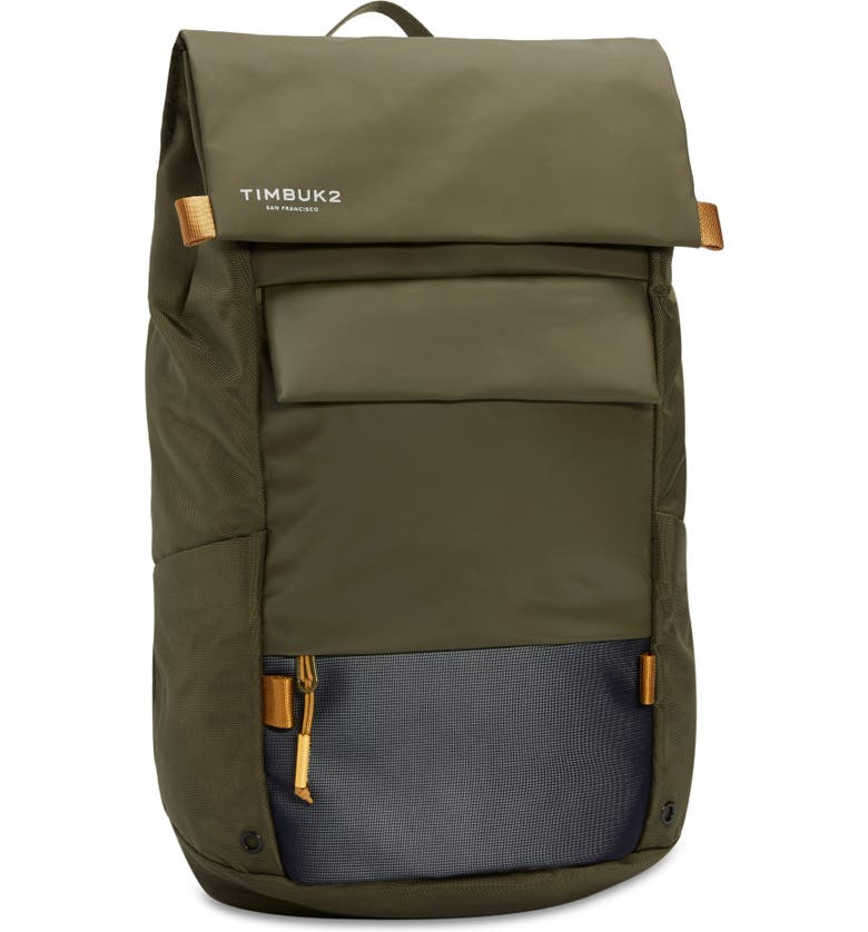 TIMBUK2 Robin Water Resistant Laptop Backpack, Main, color, OLIVINE