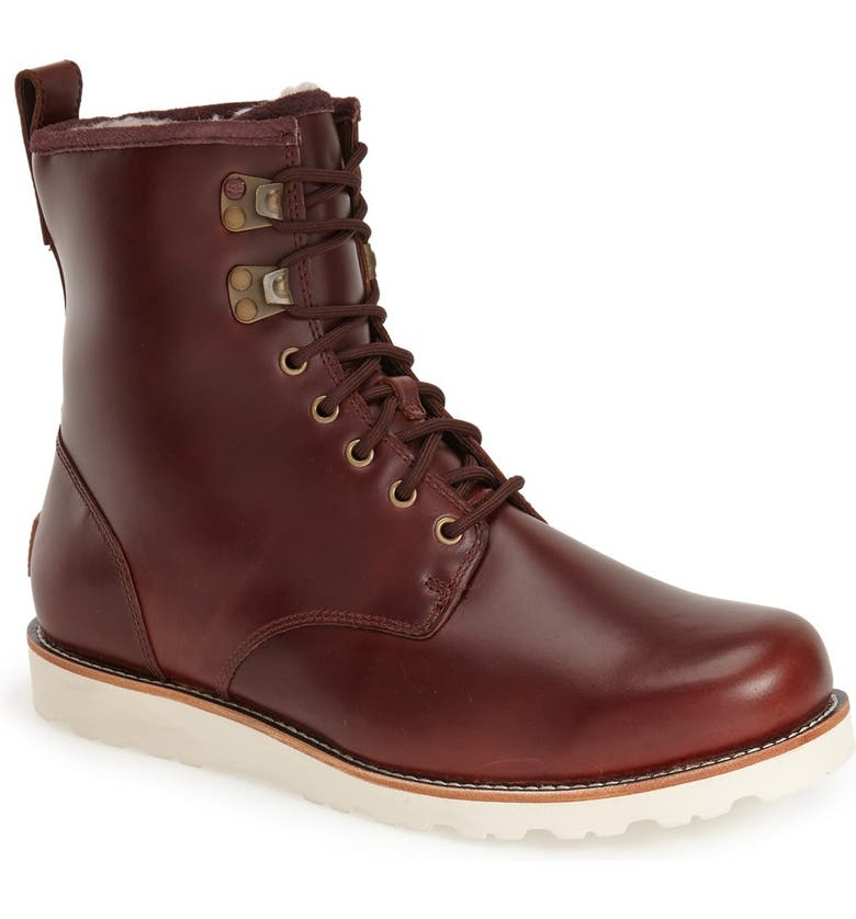 UGG<SUP>®</SUP> Hannen Waterproof Boot, Main, color, CORDOVAN