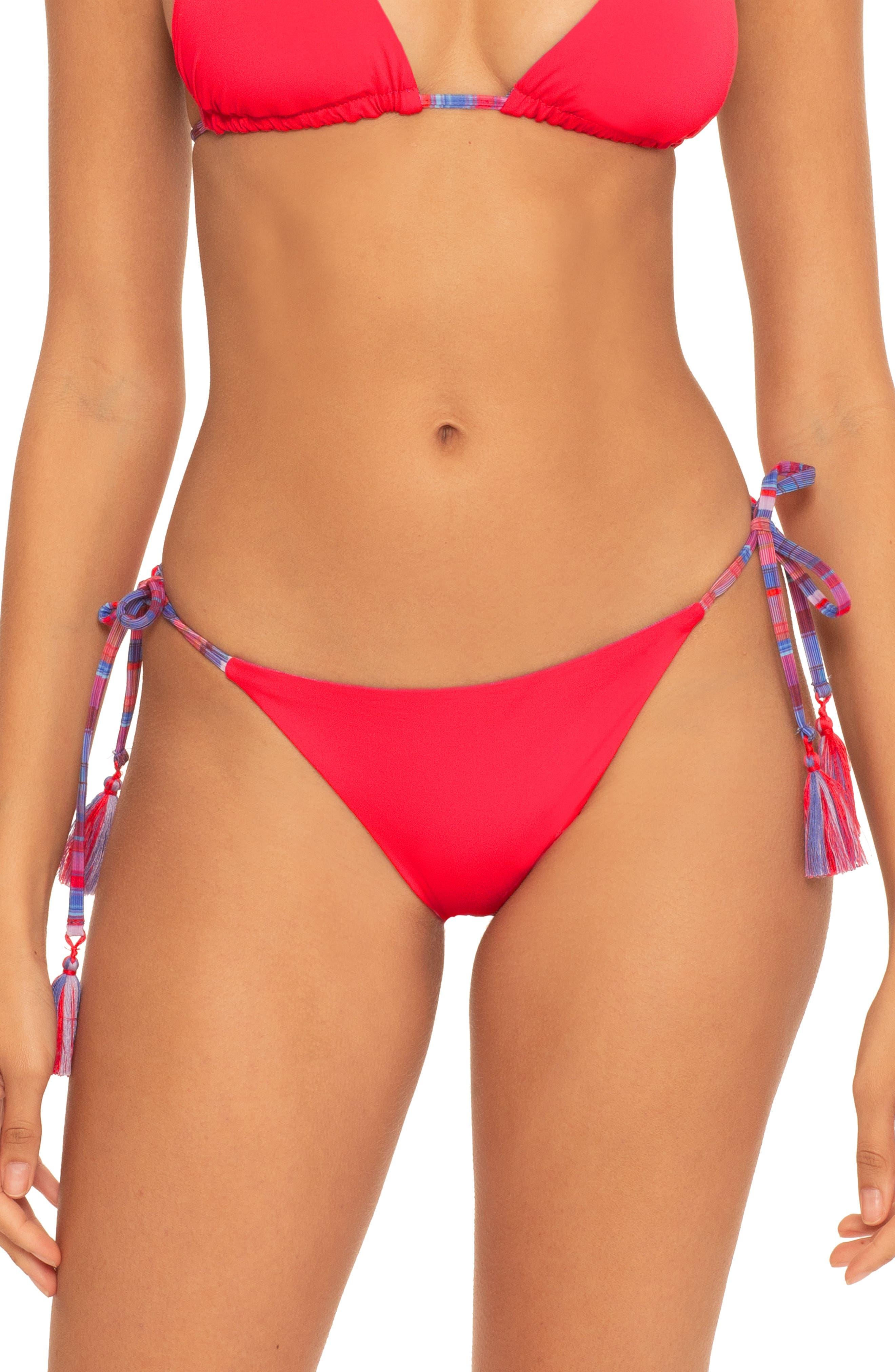 Stripe Therapy Reversible Side Tie Bikini Bottoms
