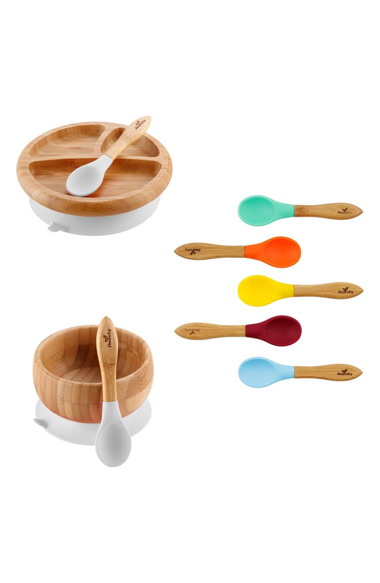 AVANCHY The Rainbow Baby Feeding Gift Set, Main, color, WHITE