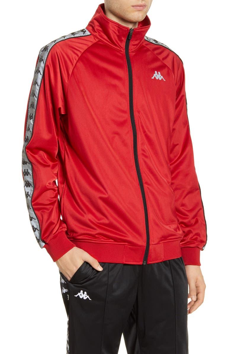KAPPA 222 Banda Joseph Track Jacket, Main, color, RED-GREY REFLECTIVE