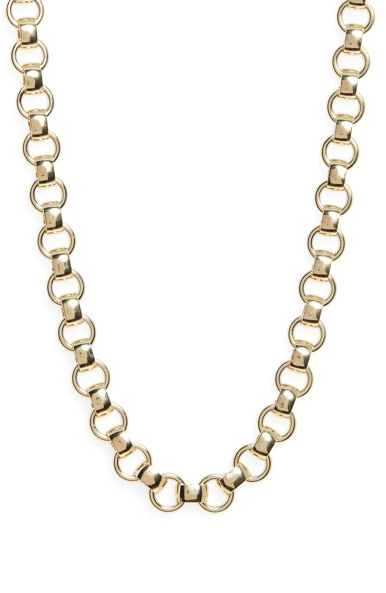 LAURA LOMBARDI Franca Chain Necklace, Main, color, GOLD