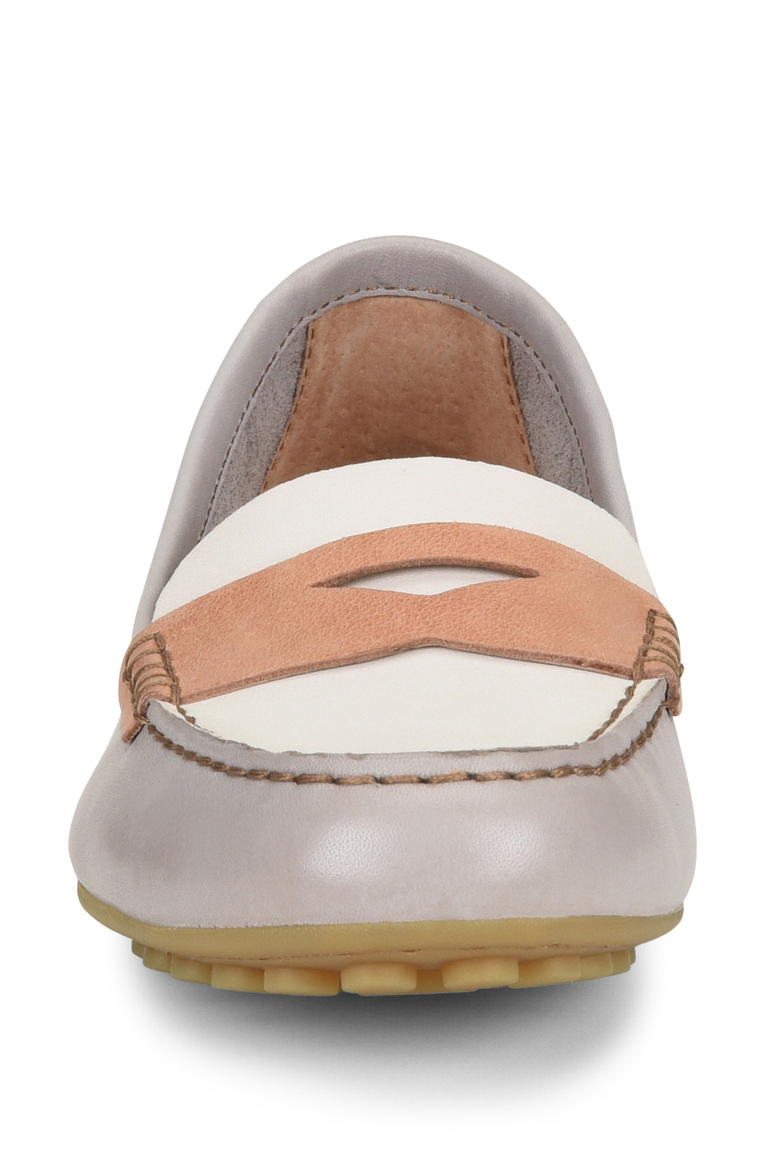 ,                             Malena Penny Loafer,                             Alternate thumbnail 4, color,                             LIT GREY/ WHITE/ BLUSH LEATHER