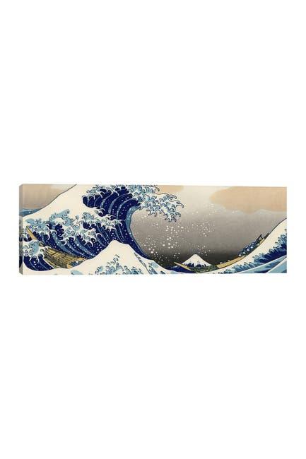 Image of iCanvas The Great Wave at Kanagawa by Katsushika Hokusai Canvas Art