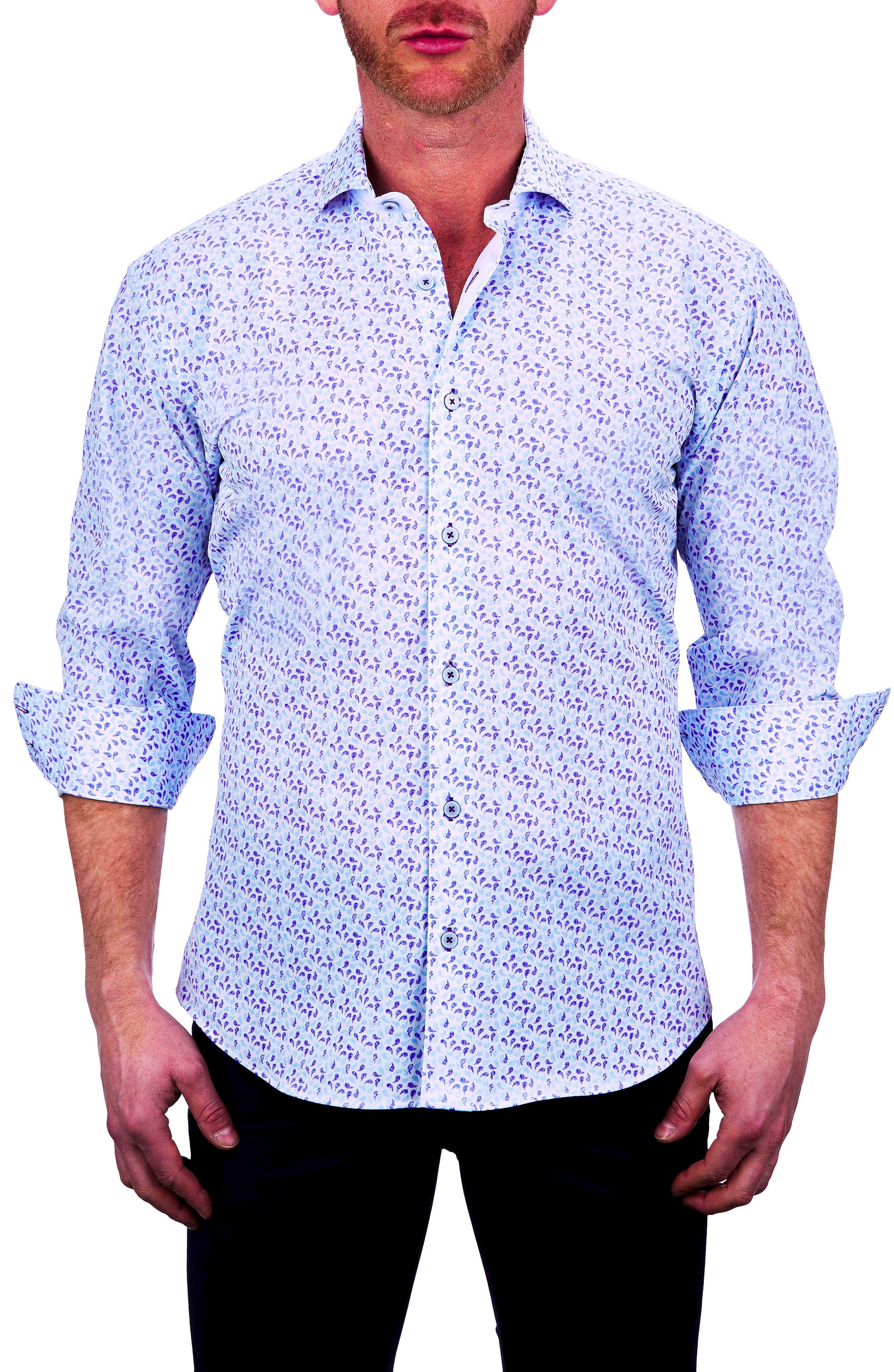 Einstein Paisley Stretch Button-Up Shirt