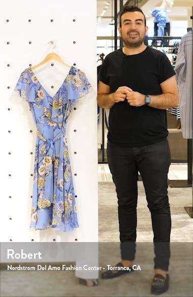 Floral Ruffle Chiffon Dress, sales video thumbnail