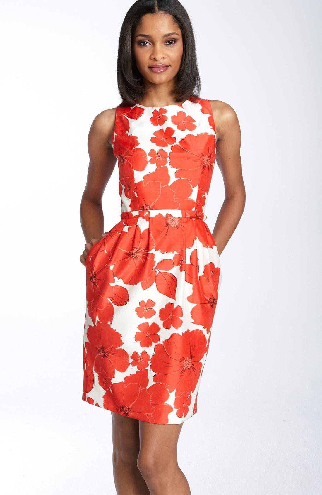 ,                             Print Sheath Dress,                             Main thumbnail 1, color,                             630