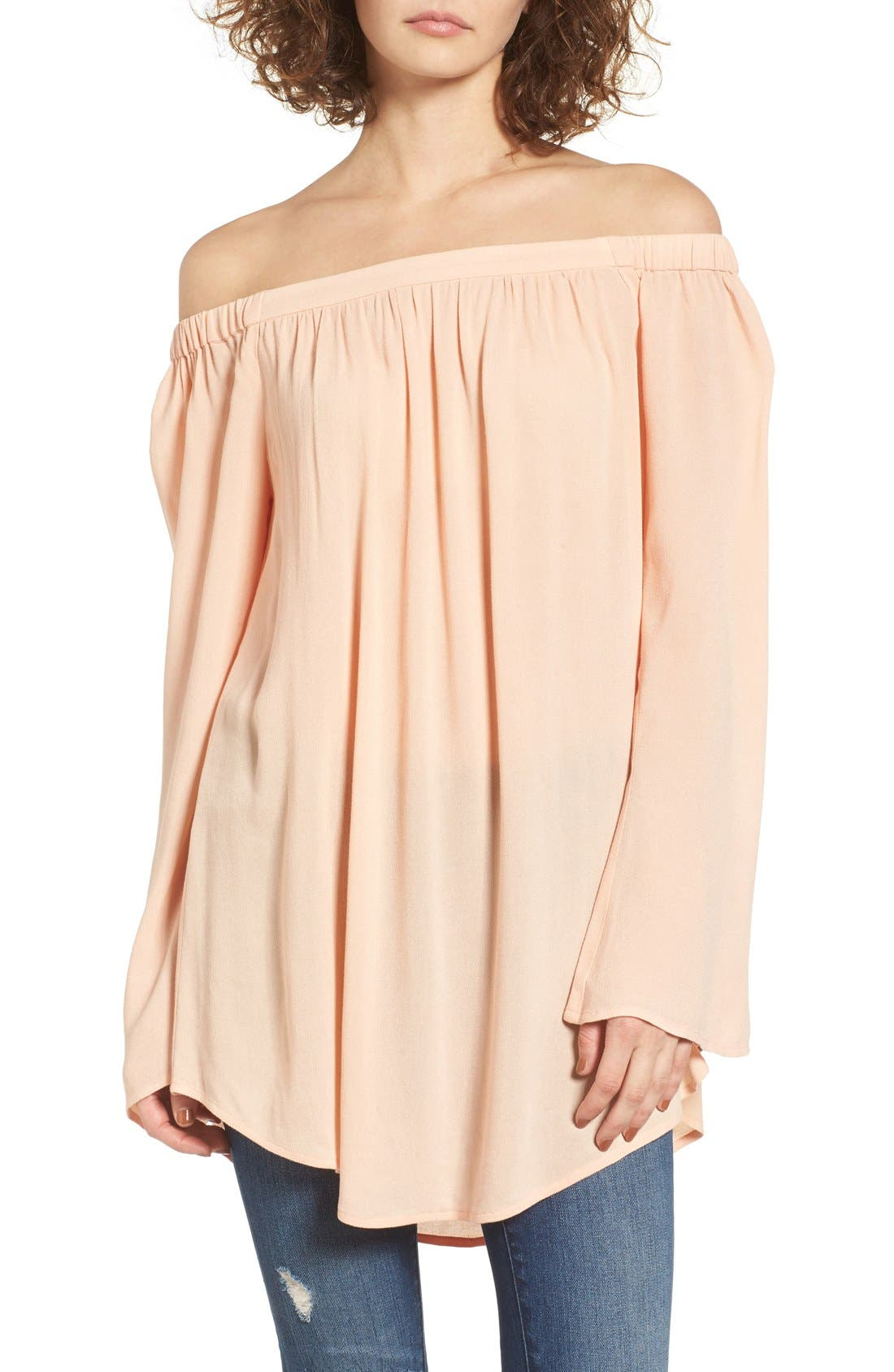 ,                             Off the Shoulder Tunic,                             Main thumbnail 43, color,                             955