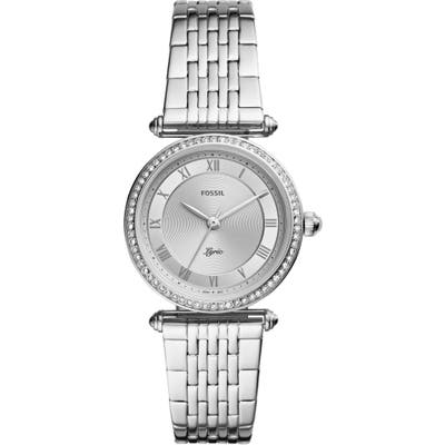 Fossil Lyric Crystal Bracelet Watch, 32Mm