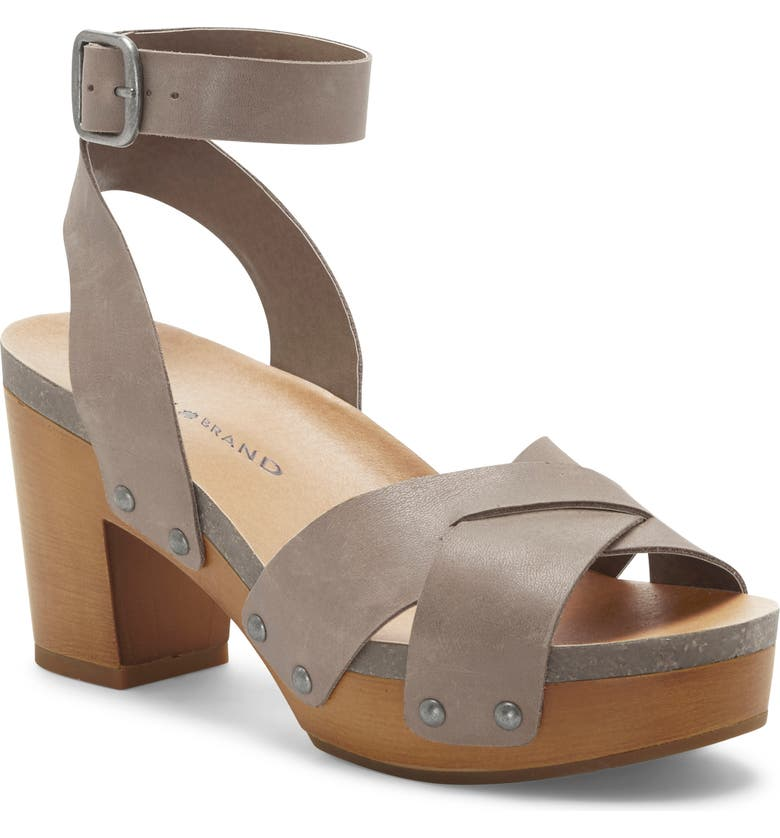 LUCKY BRAND Hadilla Platform Sandal, Main, color, STONE ROCK LEATHER