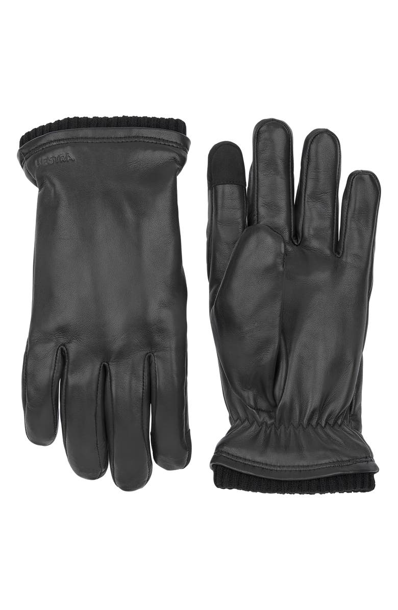 HESTRA John Sheepskin Gloves, Main, color, BLACK