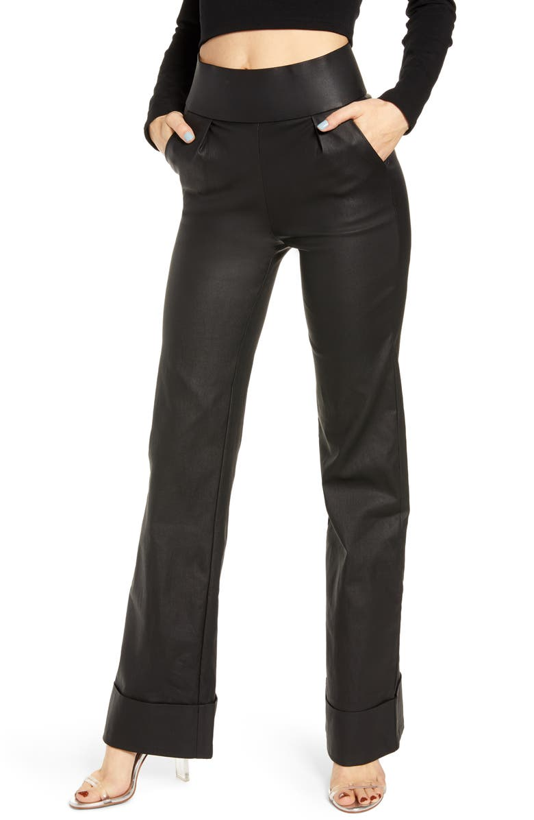 TIGER MIST Kody Faux Leather Pants, Main, color, BLACK