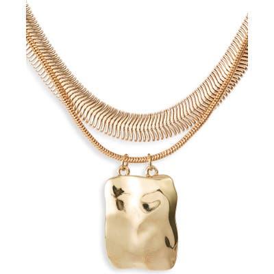 Halogen Molten Pendant Layered Necklace