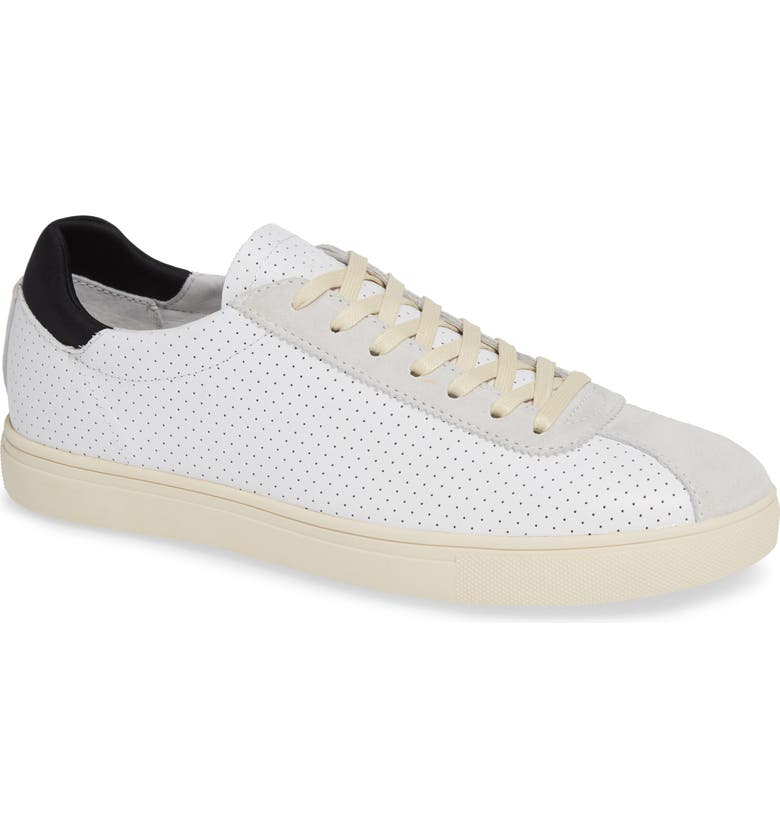 CLAE Noah Sneaker, Main, color, WHITE LEATHER SUEDE CREAM