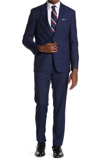Image of Kenneth Cole Reaction Solid Two Button Notch Lapel Techni-Cole Suit