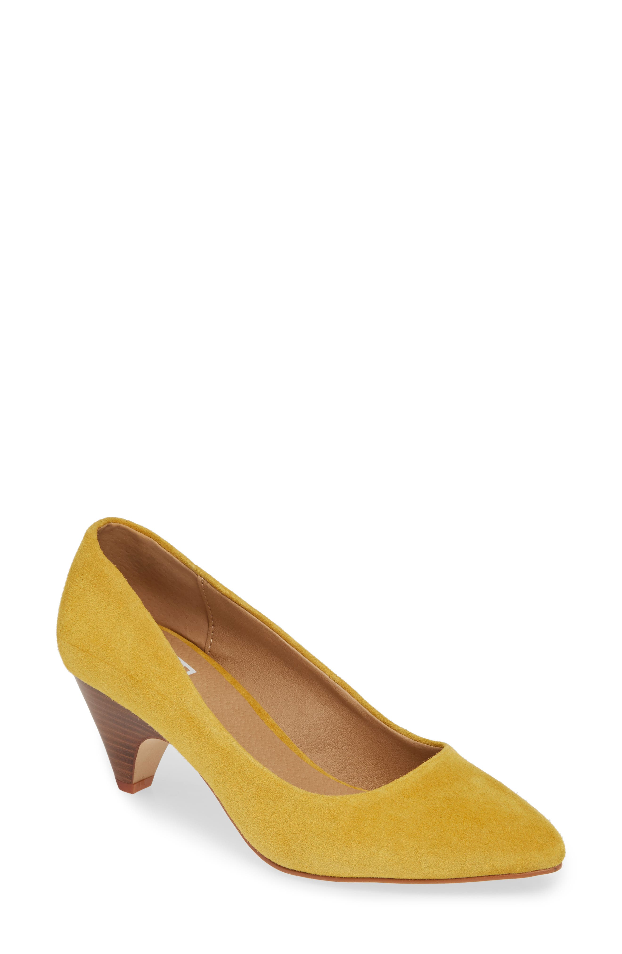 M4D3 Halle Statement Heel Pump, Yellow