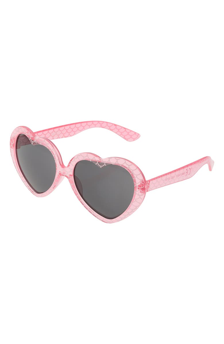 CAPELLI NEW YORK Mermazing Heart Sunglasses & Case Set, Main, color, PINK COMBO
