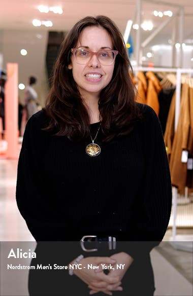 Knot Neck Sleeveless Stretch Crepe Sheath Dress, sales video thumbnail