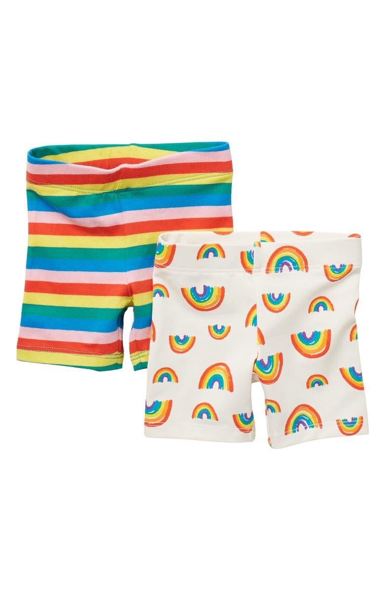 TUCKER + TATE 2-Pack Bike Shorts, Main, color, IVORY EGRET RAINBOW PACK